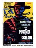 A Fistful of Dollars, Italian Movie Poster, 1964 Umění
