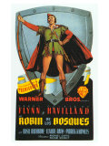 The Adventures of Robin Hood, Spanish Movie Poster, 1938 Art