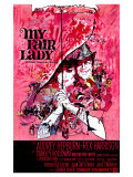 My Fair Lady, Belgian Movie Poster, 1964 Giclee-vedos
