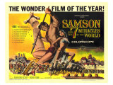 Samson and the 7 Miracles of the World, 1962 Reproduction proc&#233;d&#233; gicl&#233;e