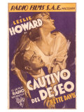Of Human Bondage, Spanish Movie Poster, 1934 Wydruk giclee