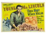 Young Mr. Lincoln, UK Movie Poster, 1939 Giclee Print