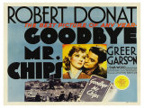 Goodbye Mr. Chips, UK Movie Poster, 1939 Giclee Print
