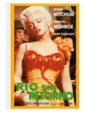 River of No Return, Spanish Movie Poster, 1954 Giclee Print