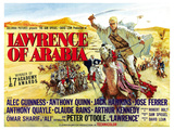 Lawrence of Arabia, UK Movie Poster, 1963 Giclee Print