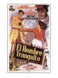 The Quiet Man, Spanish Movie Poster, 1952 Plakater