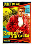 Rebel Without a Cause, Argentine Movie Poster, 1955 Giclee-vedos