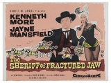 The Sheriff of Fractured Jaw, UK Movie Poster, 1958 Print