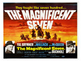 The Magnificent Seven, UK Movie Poster, 1960 - Giclee Baskı