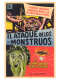 Attack of the Crab Monsters, Spanish Movie Poster, 1957 Giclee-tryk i høj kvalitet