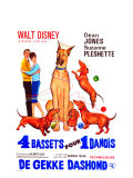 The Ugly Dachshund, Belgian Movie Poster, 1966 Premium Giclee Print