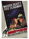 Bonnie and Clyde, German Movie Poster, 1967 Giclee Print