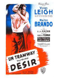 A Streetcar Named Desire, French Movie Poster, 1951 Reproduction procédé giclée