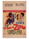 The Mark of Zorro, 1940 Giclée-tryk