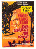 Bridge on the River Kwai, German Movie Poster, 1958 Giclee Print