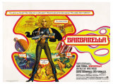 Barbarella, UK Movie Poster, 1967 Kunstdrucke