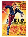 Rio Grande, Spanish Movie Poster, 1950 Poster