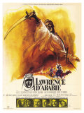 Lawrence of Arabia, French Movie Poster, 1963 Sztuka