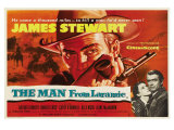 The Man From Laramie, UK Movie Poster, 1955 Giclée-tryk
