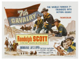 7th Cavalry, UK Movie Poster, 1956 Giclee Print