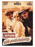 The Misfits, German Movie Poster, 1961 Affiches