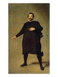 Portrait of the Jester Pablo de Valladolid Gicléedruk van Diego Velázquez
