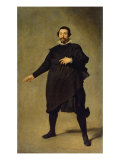 Portrait of the Jester Pablo de Valladolid Giclee Print by Diego Velázquez