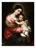 Madonna ja lapsi Giclee-vedos tekijänä Bartolome Esteban Murillo