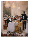 A Soiree at Pre-Catelan (A Couple at Table), 1909 Giclee Print by Henri Gervex