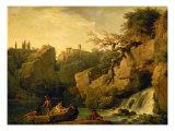 Romantic Landscape Giclée-Druck von Claude-Joseph Vernet