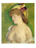 The Blonde with Bare Breasts Giclee Print by &#201;douard Manet