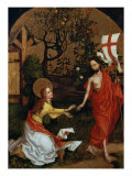 Polyptych of the Dominicans: Panel with the Noli me tangere Giclee Print by Martin Schongauer