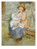 Madame Renoir with his Pupil Pierre Giclee Print by Pierre-Auguste Renoir