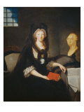 Mary Antoinette in the Prison of Temple on 1793 Lámina giclée