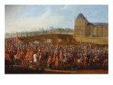 The Ambassador Mehemet Effendi Goes to Audience to King Louis XV March 21, 1721 Giclee Print by Pierre-Denis Martin