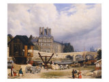 The Tuileries and the Pont Royal, 1843 Giclee Print by Arthur Henri Roberts