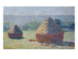 Straw Ricks, End of summer, Giverny, 1891 Reproduction procédé giclée par Claude Monet