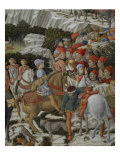 Procession of the Magi: Wall with Giuliano, detail (Procession at bottom) Giclee Print by Benozzo Gozzoli