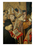 Consecration of Saint Augustine, detail Giclee Print by Jaume Huguet