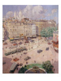 Place Pigalle, 1925 Giclee Print by Lucien Lievre