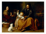 Holy Family with Baby Sparrow Giclee Print by Bartolome Esteban Murillo