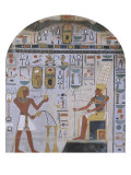 Frescoed Wall of the Shrine of Hathor from Deir el-Bahri Lámina giclée