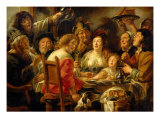 The Bean King (The King Drinks) Giclee Print by Jacob Jordaens