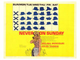 Never on Sunday, 1960 Affiches