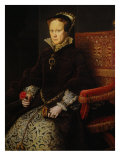 Portrait of Mary Tudor, Queen of England Giclee Print by Anthonis Mor