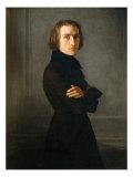 Portrait of Franz Liszt Giclee Print by Henri Lehmann
