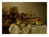 Breakfast with Fish and Tankard Giclee Print by Pieter Claesz