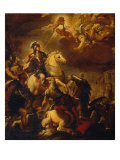 Apparition of the Cross to Constantine Lámina giclée por Luca Giordano