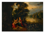 Madonna and Child with Angels Giclee Print by Ambroise Francken