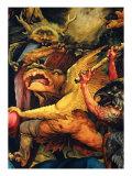 Isenheim Altar: Temptations of Saint Anthony, detail (Monster and Devil) Giclee Print by Matthias Gruenewald